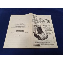 Coleco Ms Pacman instruction manual guide n° 91758A