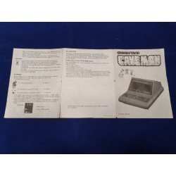 Grandstand - Cave Man Instruction Booklet eng