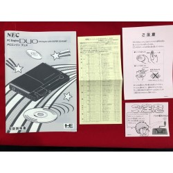 Nec Pc Engine Duo Console manual (repro)