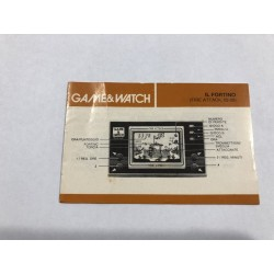 Manuale Nintendo Game&Watch Il Fortino ( Fire Attack) OTO