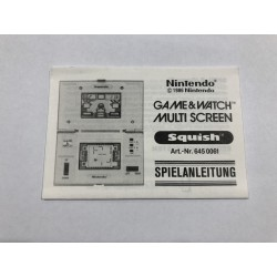 Manuale Nintendo Game&Watch Multi Screen Squish GER