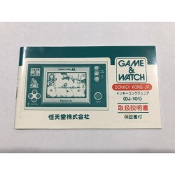 Manuale Nintendo Game&Watch Donkey Kong Jr. JAP