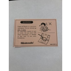 Warning Nintendo Game&Watch